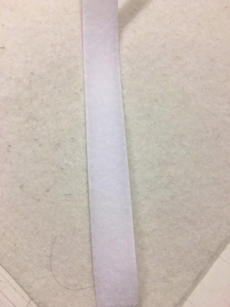 Flauschband Standard 20mm weiß