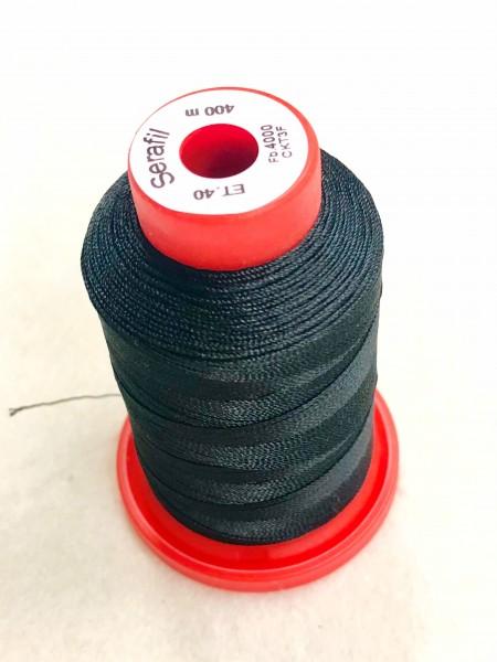 Nähgarn Polyester 40/400 schwarz