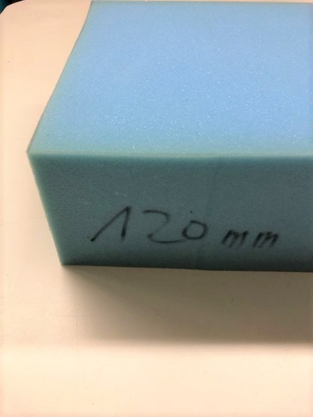 Schaumstoff 12cm 80x120cm Palettengröße