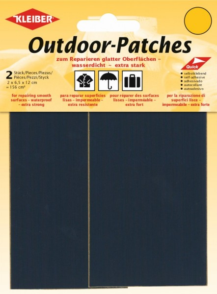 Outdoor-Patches Dunkelblau