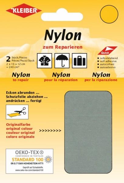 Nylon-Flicken Grau