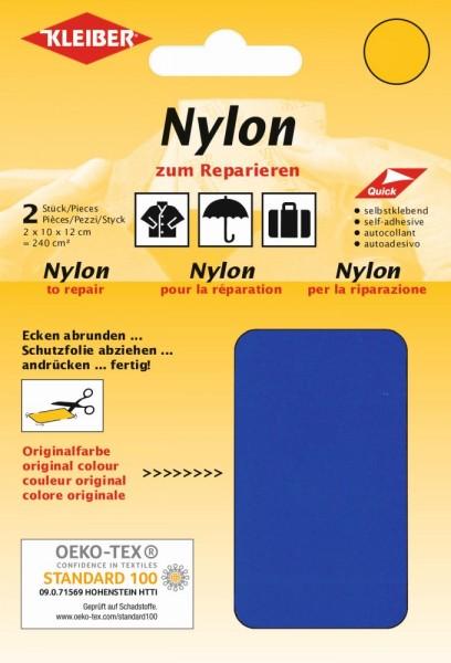 Nylon-Flicken Blau