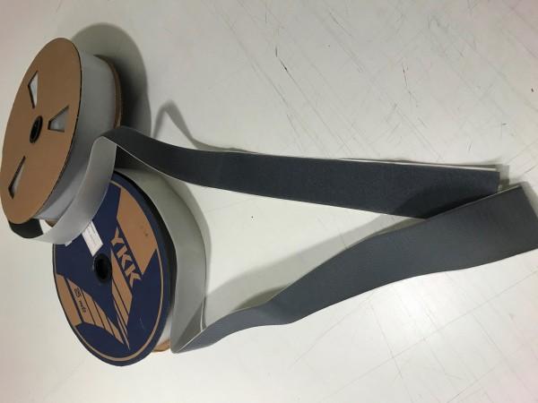 Restposten Klettband selbstklebend 50mm Grau