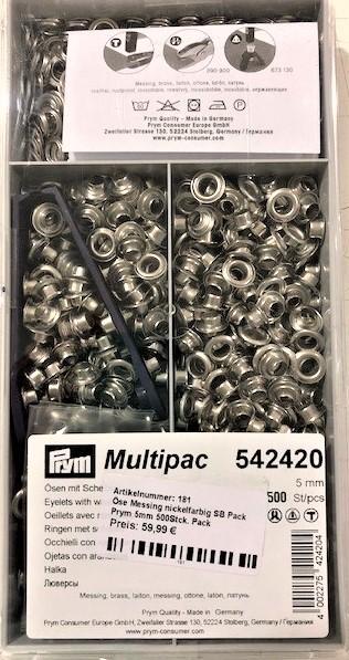 Prym Multipac Ösen mit Scheibe aus Messing