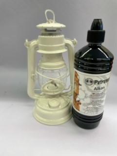 Lampe Feuerhand + Petroleum SET Weiß
