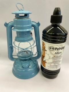 Lampe Feuerhand + Petroleum SET Pastellblau