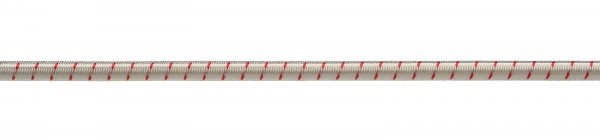 Gummiseil 4mm weiß-rot
