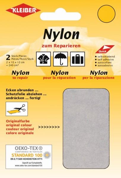 Nylon-Flicken Hellgrau