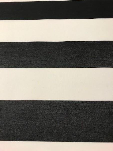 Markisenstoff Dralon 120cm schwarz/weiß