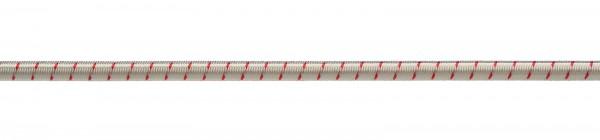 Gummiseil 6mm weiß-rot