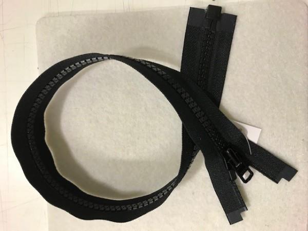 Reißverschluss Kunststoff teilbar SCHWER Schwarz 50 cm