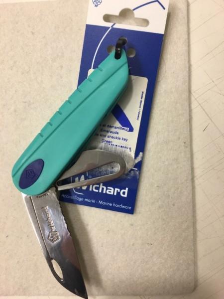 Seglermesser Wichard grüner Griff ohne Marlspieker