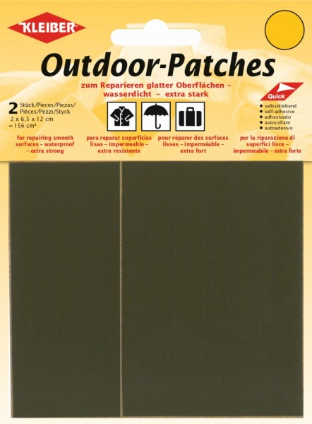 Outdoor-Patches Oliv-Grau