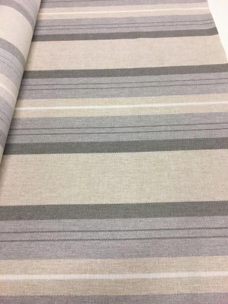 Möbelstoff Polyester beige/grau 145cm breit