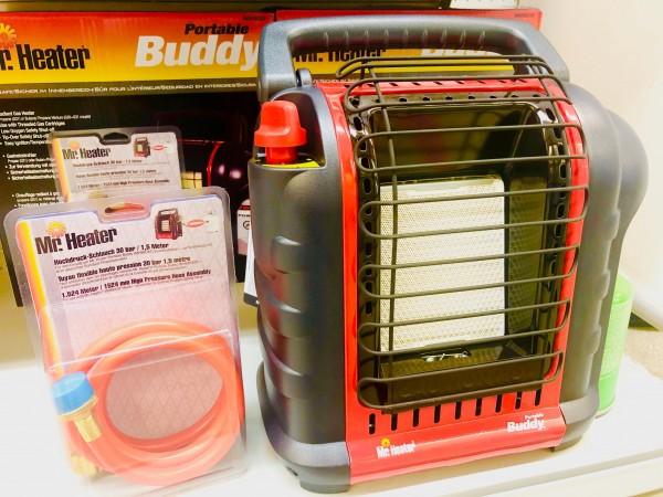Heizung Gas Mr. Heater Buddy inkl. Schlauch