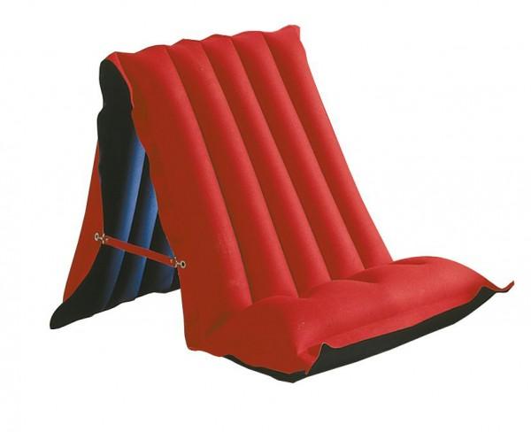 Luftmatratze Sitz oder LIege Baumwolle rot/blau