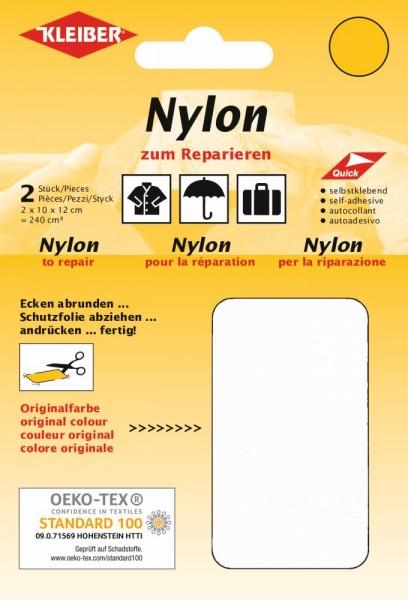 Nylon-Flicken Weiß