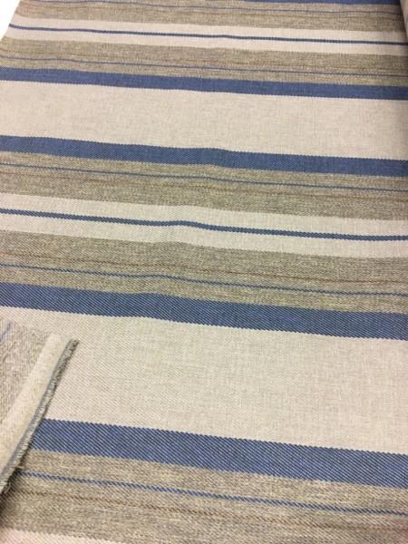 Möbelstoff Polyester blau/grau 145cm breit
