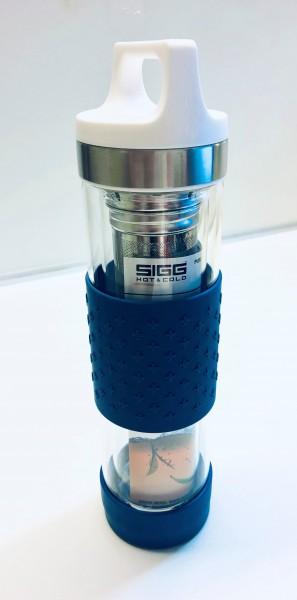 Thermosflasche Glas Sigg H&C Blau