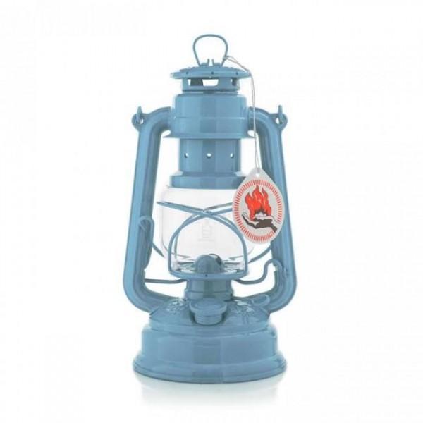 Lampe Petroleum Feuerhand pastellblau