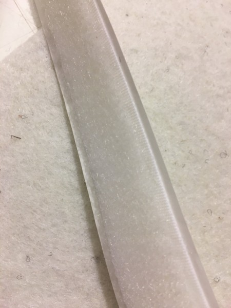 Flauschband Selbstklebend 20mm weiß