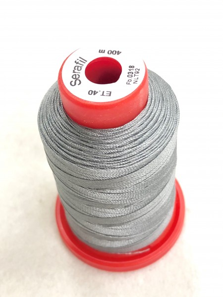 Nähgarn Polyester 40/400 mittelgrau