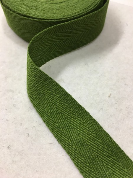 Köperband 25mm maigrün Polyester