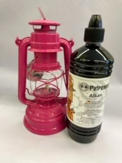 Lampe Feuerhand + Petroleum SET Telemagenta