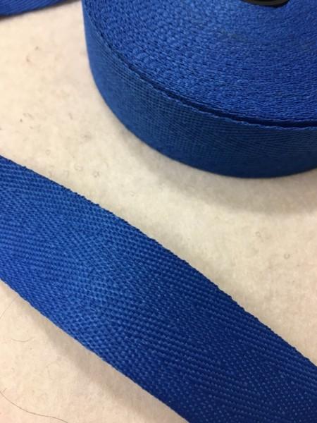 Köperband 25mm azurblau Polyester