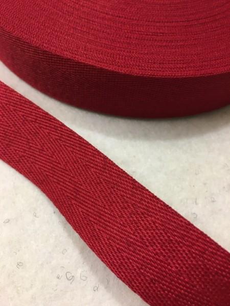 Köperband 25mm kirschrot Polyester